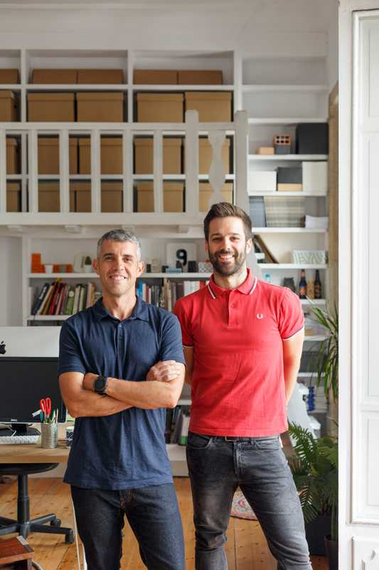 Owners of Costa Comunicación Visual, a design studio that does work for Inditex
