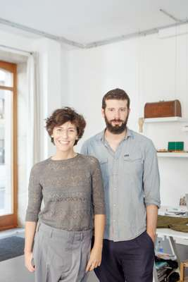 Knitbrary founders Yolanda Estévez and Pedro Castellanos