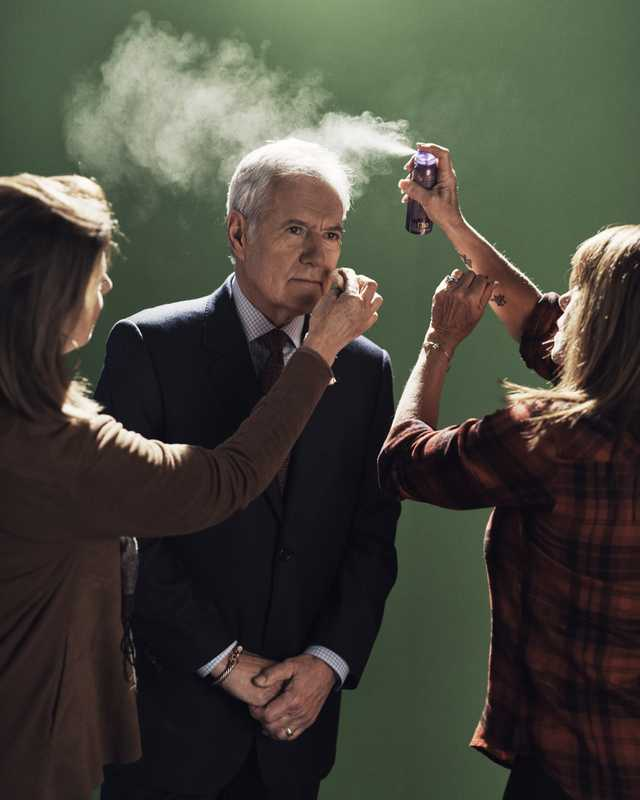 Ready for his close-up: 'Jeopardy!' host Alex Trebek backstage