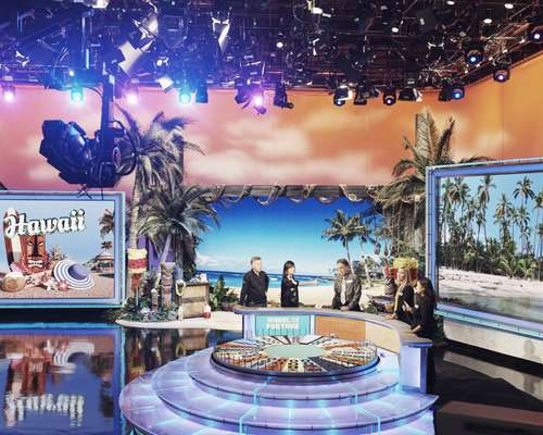 A rehearsal for 'Wheel of Fortune'