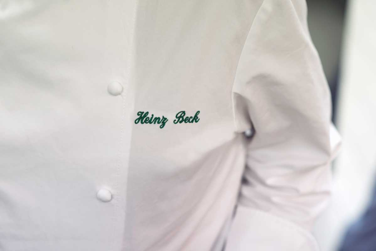 Chef Heinz Beck's personalised jacket