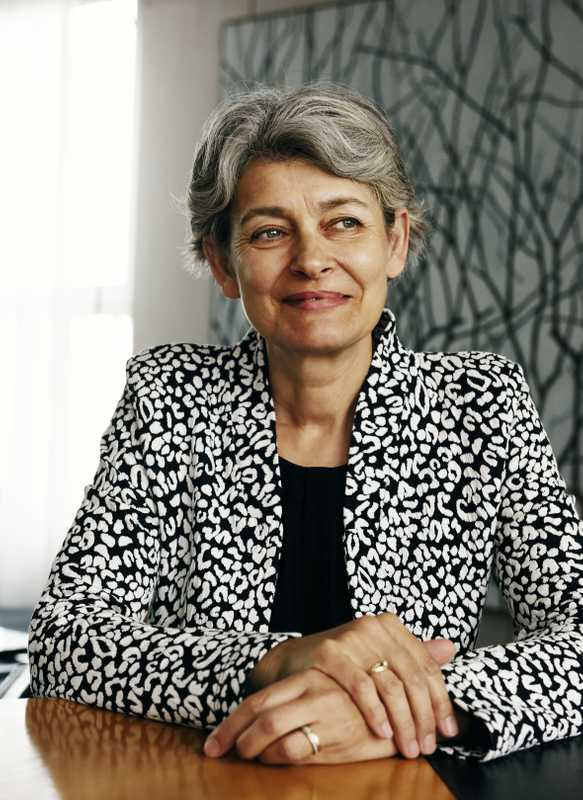 Irina Bakova, director-general of Unesco
