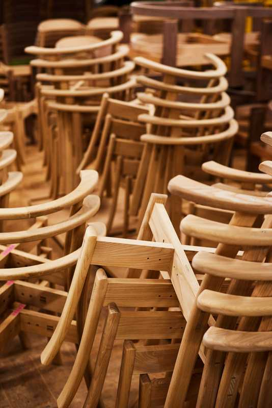 Chairs in the workshop in Asahikawa