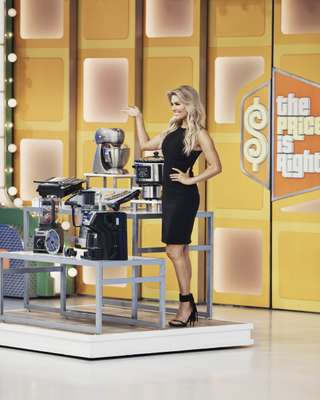 Glamorous assistant at 'The Price is Right'