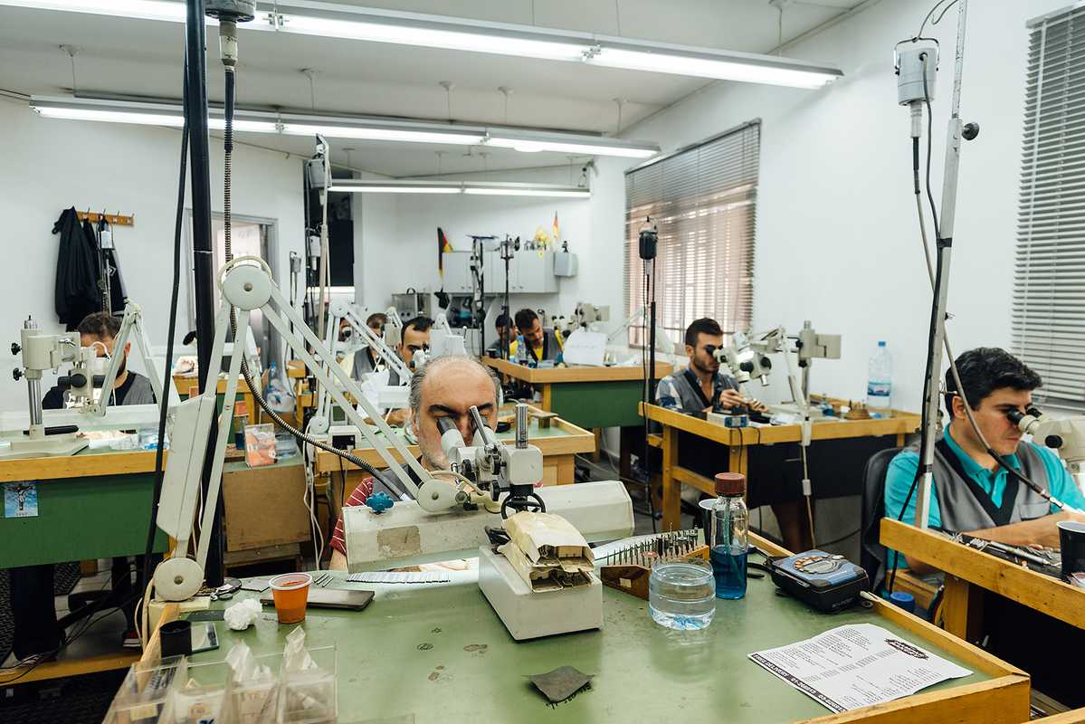 Yeprem's jewellery is made in-house