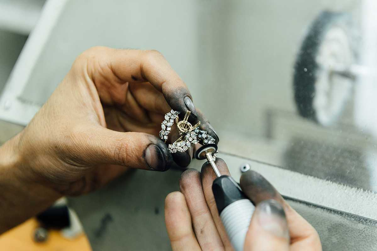 Intricate pieces of jewellery can take weeks to make