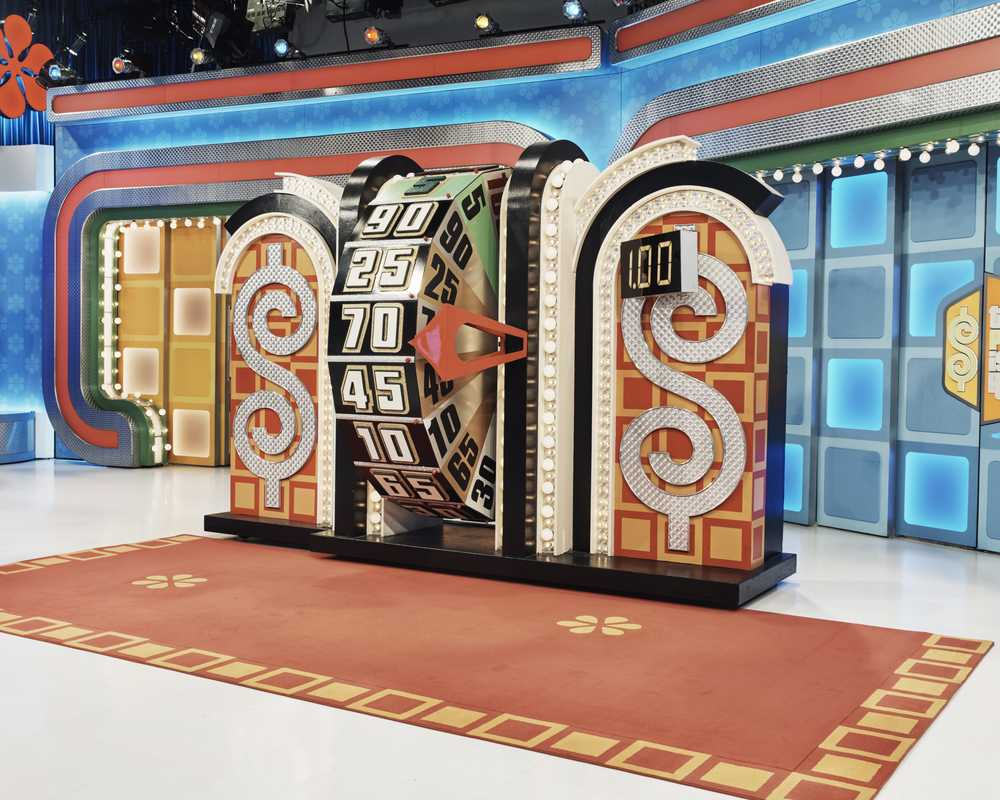 The prize wheel at 'The Price is Right'