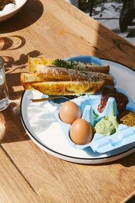 Egg and soldiers at Good Times Milk Bar