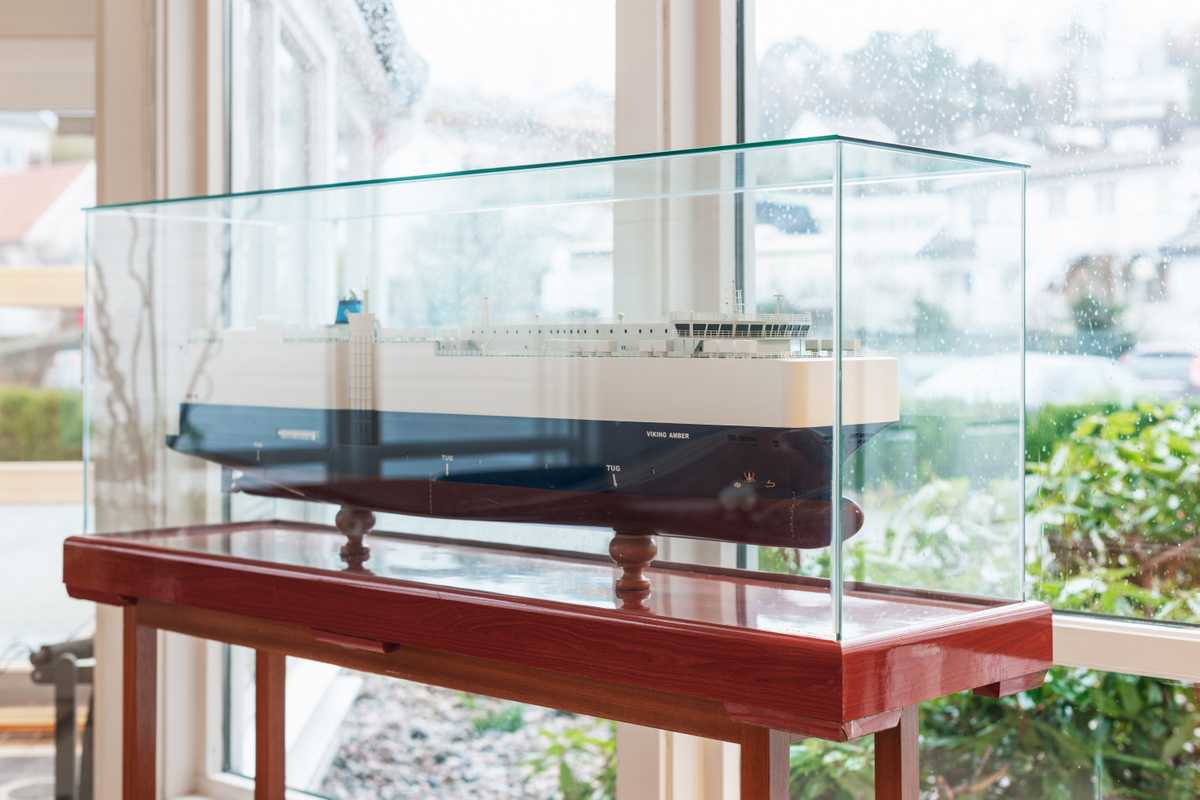 Model of the 'Viking Amber', one of 500 ships OSM manages
