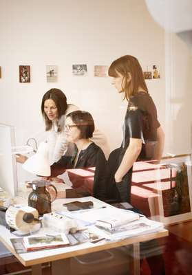 (From l-r) Nadja Zobel, art director; photo director Barbara Stauss; and photo director Petra Kossmann