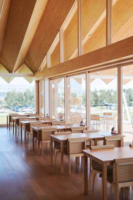 The hotel's farm-to-table restaurant