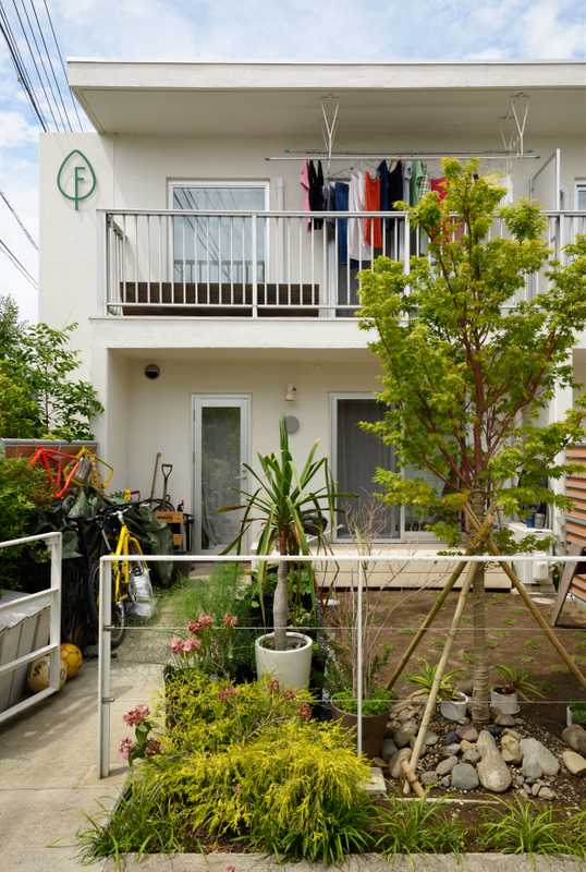 Former employee dormitories of East Japan Railway, since converted into family home for rent