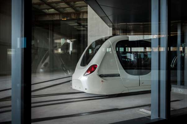 Driverless car from Masdar City's public transport system
