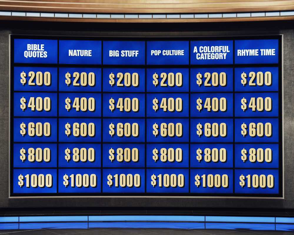 The 'Jeopardy!' game board