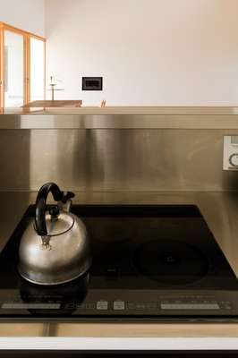 Stainless steel kitchen work surfaces
