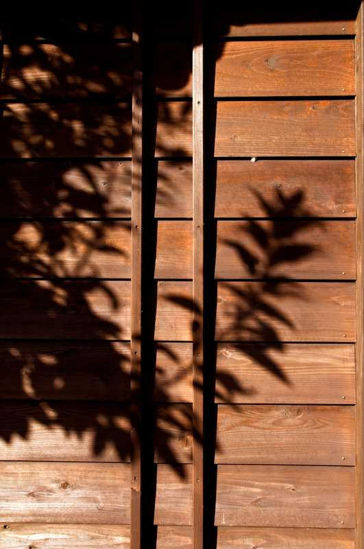 Shadow on an exterior wall