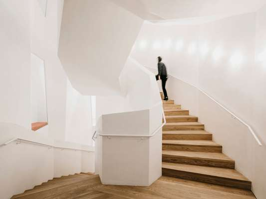 The austere new staircase