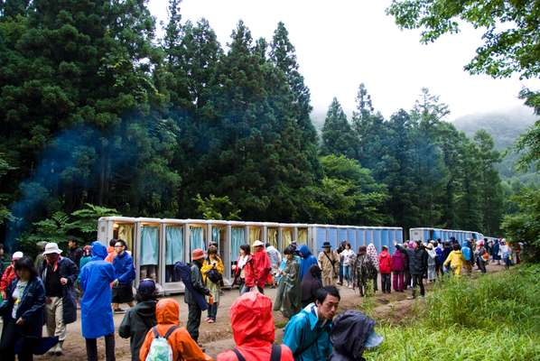 With 400 Portaloos, not even bears shit in the woods at Fuji Rock
