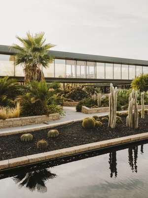 Garcia adds landscape features to create  a garden-like feel