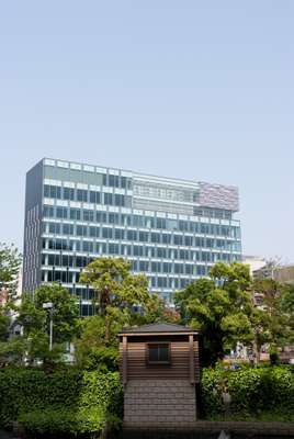 New riverside office building near Nakasu