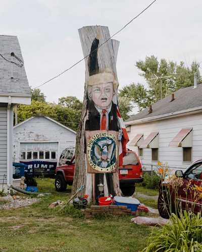 Donald Trump's only appearance on the stump this year (outside a home in eastern Des Moines)