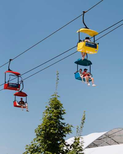 Getting around on the Skyglider chair lift