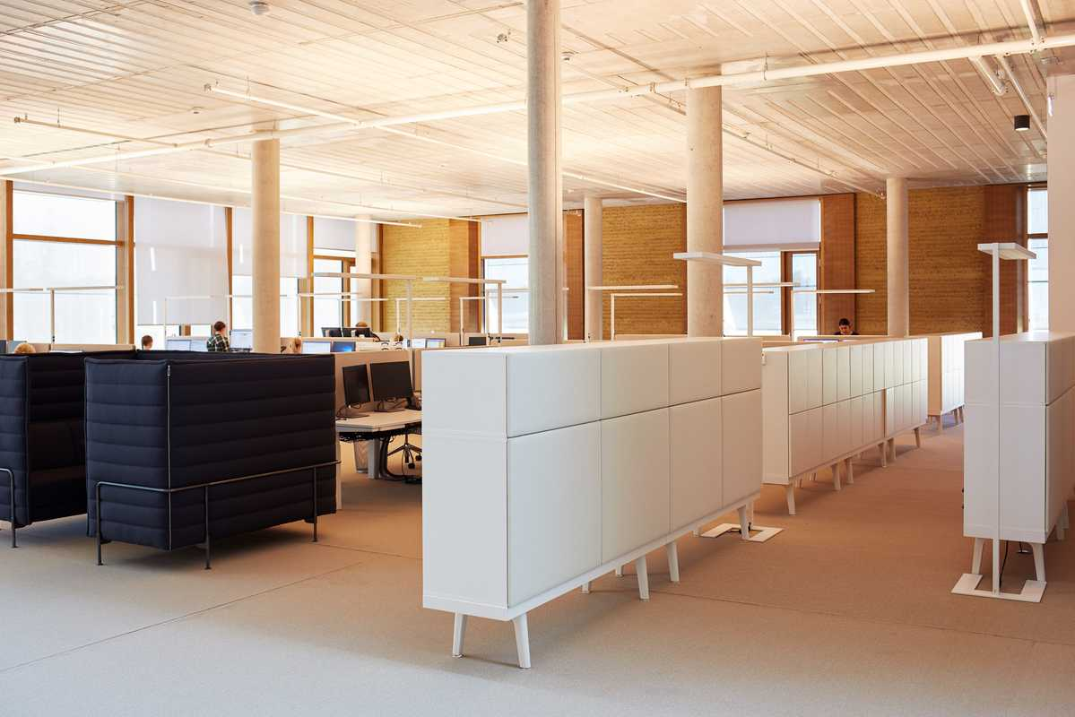 The acoustics of the building are tuned to provide an ambience that's perfect for working