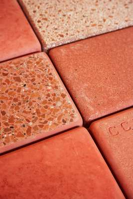 Examples of pink concrete