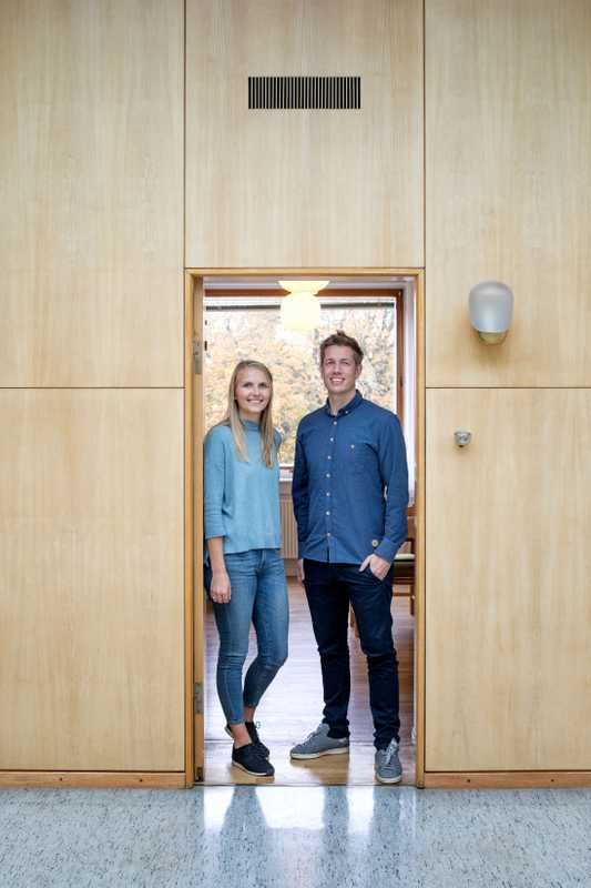 City hall workers Mikkel Schiørring and Nadja Juul Christiansen
