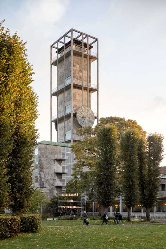 Refurbished clock tower