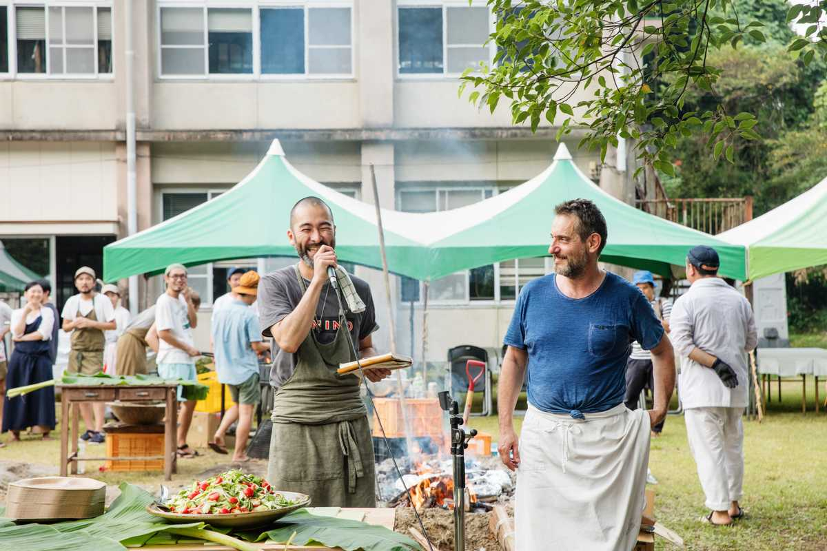 Chefs Shin Harakawa (left) and Jerome Waag