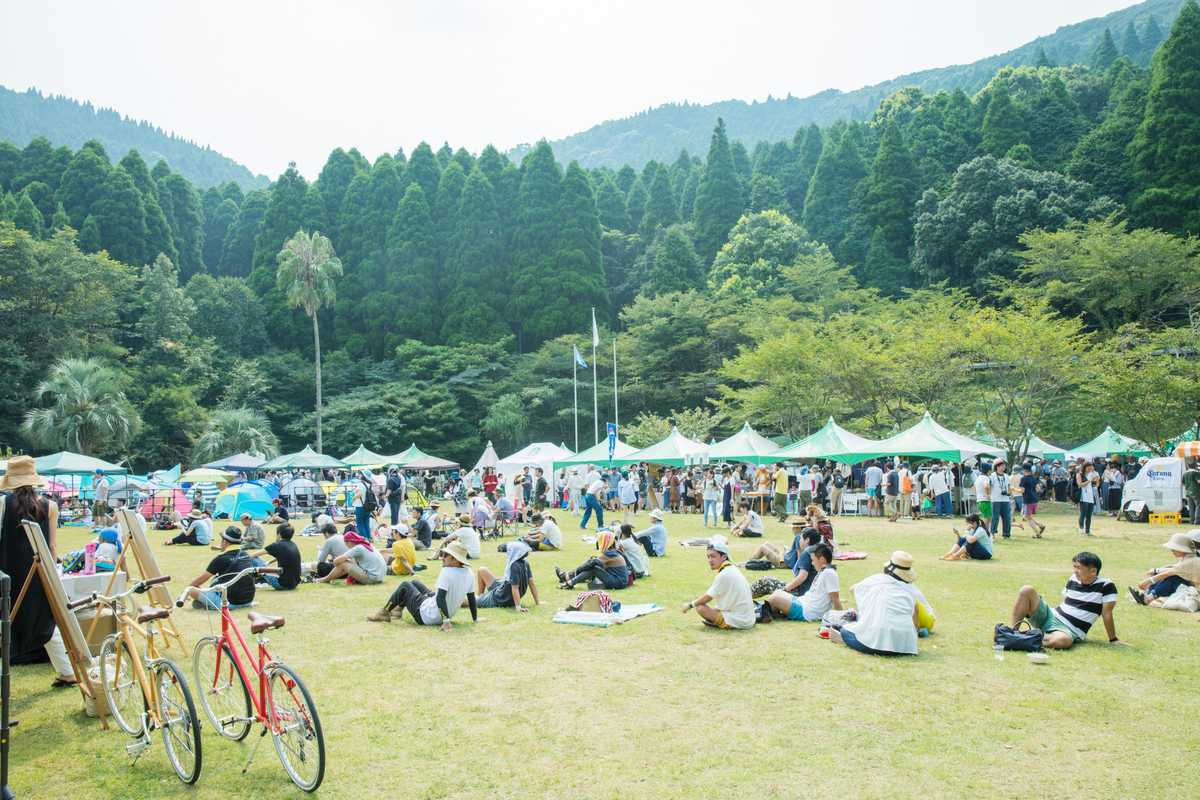 A former school in the forested mountains of Kagoshima is the venue for the event