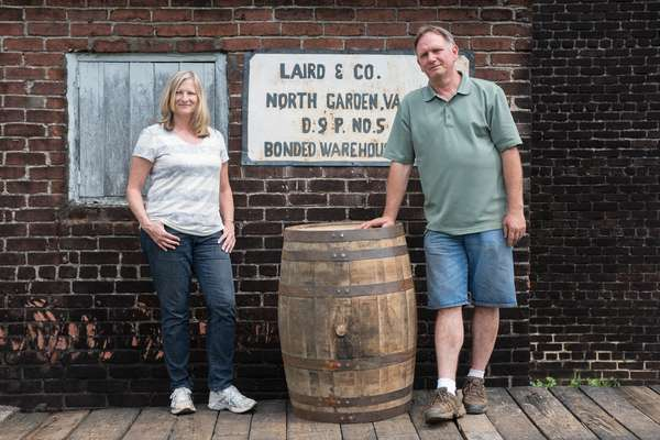 Lisa Laird Dunn, co-owner of Laird & Company, and master distiller Danny Swanson