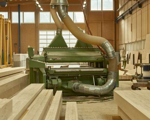 Giant planer to bring planks into shape before assembly