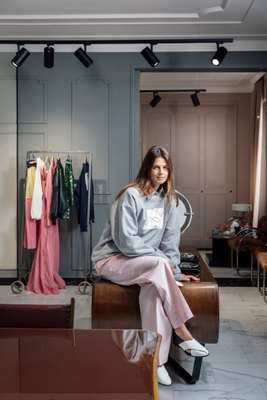 Carolina Castiglioni in the Plan C showroom