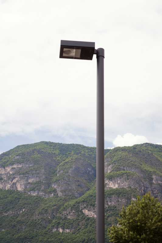 Company's FL light fixture outside its main factory in South Tyrol