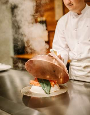 Unveiling the steamed Hokkaido king crab