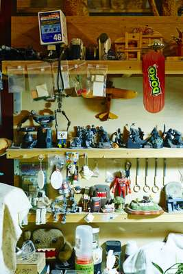 Dwarf's studio is filled with characters