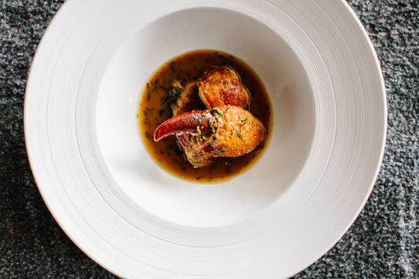 Braised Canadian lobster with tarragon