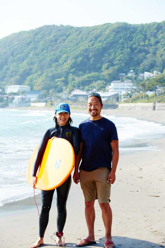 Kazushi Tsuda and wife Minori of Beach Hayama Outdoor Fitness Club