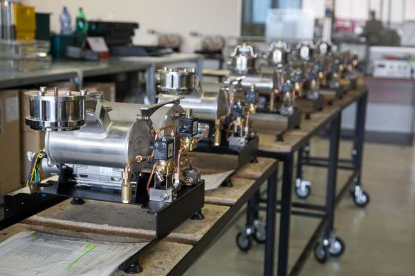 Assembly line of GS/3 coffee machines