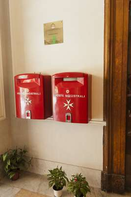 The Order's postboxes, popular with tourists keen on a unique postmark