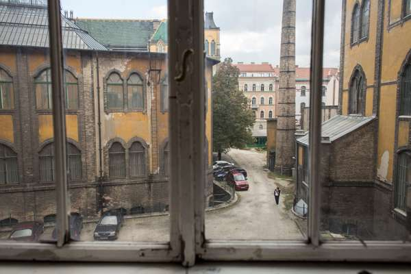 The view from a window at Moholy-Nagy University of Art and Design (Mome)