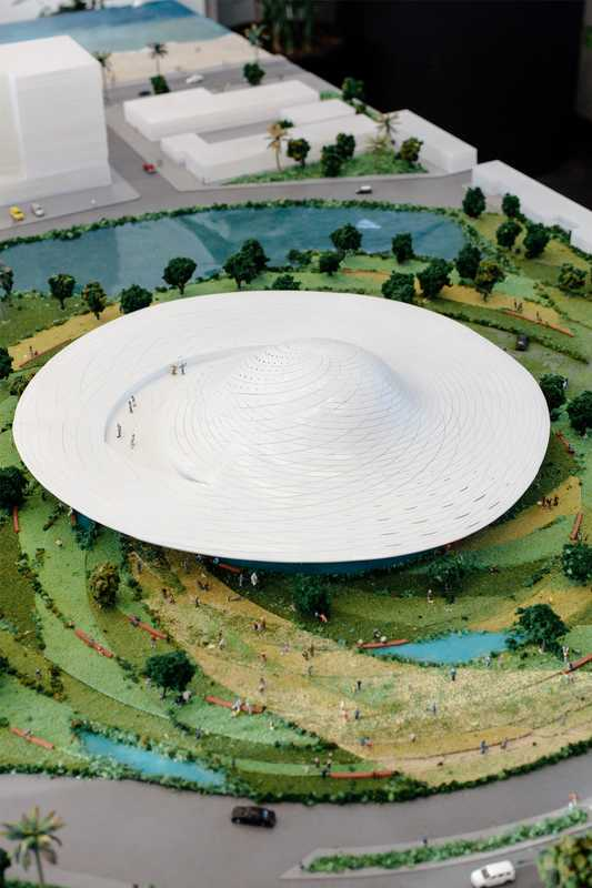Model of new museum project Mazatlán