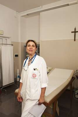 Antonella Santini, ward nurse at the Order's walk-in clinic