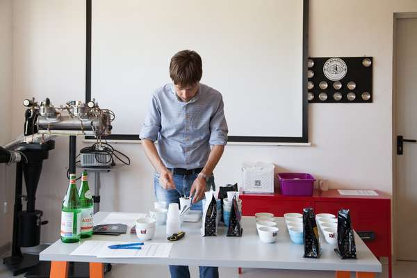 Coffee-tasting lab