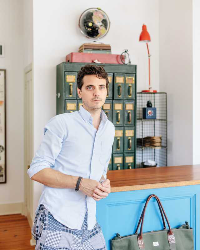Brett Carron of Cannonborough's Indigo and Cotton menswear shop