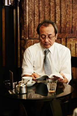 Salaryman taking a break