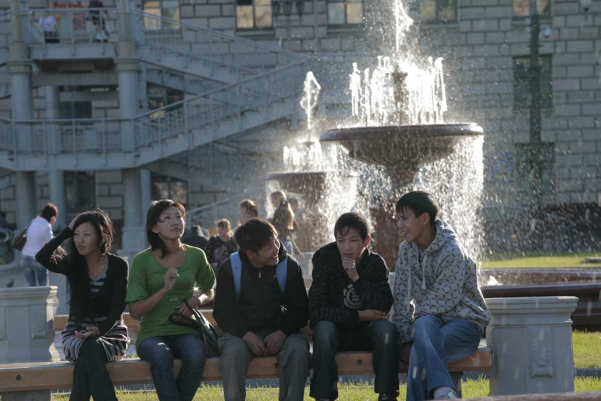 Teens in Lenin Square