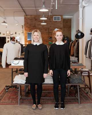 Sophie Desbiens (left) and colleague at Frank & Oak